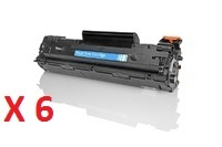 Pack 6 toners compatibles HP 78A - noir - XL