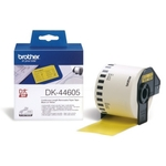 Brother DK-44605 DirectLabel Étiquettes jaune Papier 62mm x 30,48m pour Brother P-Touch QL/700/800/QL 12-102mm/QL 12-103.6mm