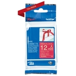 Brother TZE-RW34 P-Touch d'or sur rouge Laminat 12mm x 4m pour Brother P-Touch TZ 3.5-18mm/6-12mm/6-18mm/6-24mm/6-36mm